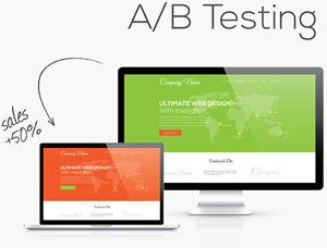 Example of A/B split testing to improve website optimization
